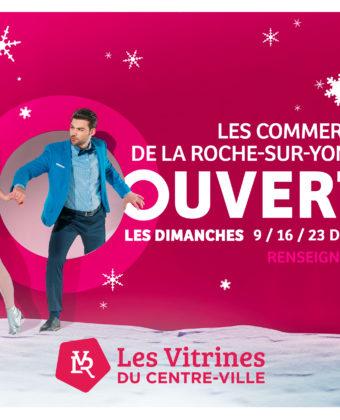 Les commerçants du centre-ville de La Roche Sur Yon ouverts le dimanche.