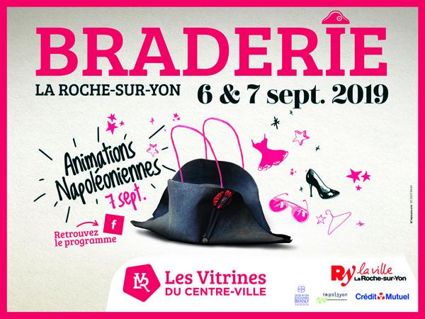 Braderie centre-ville la Roche-sur-Yon septembre 2019
