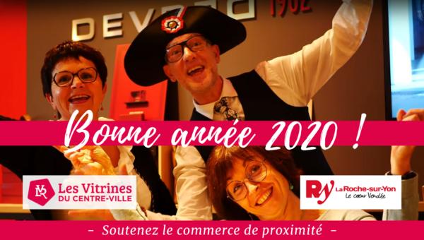 bonne année 2020 commerçants centre-ville la Roche-sur-Yon